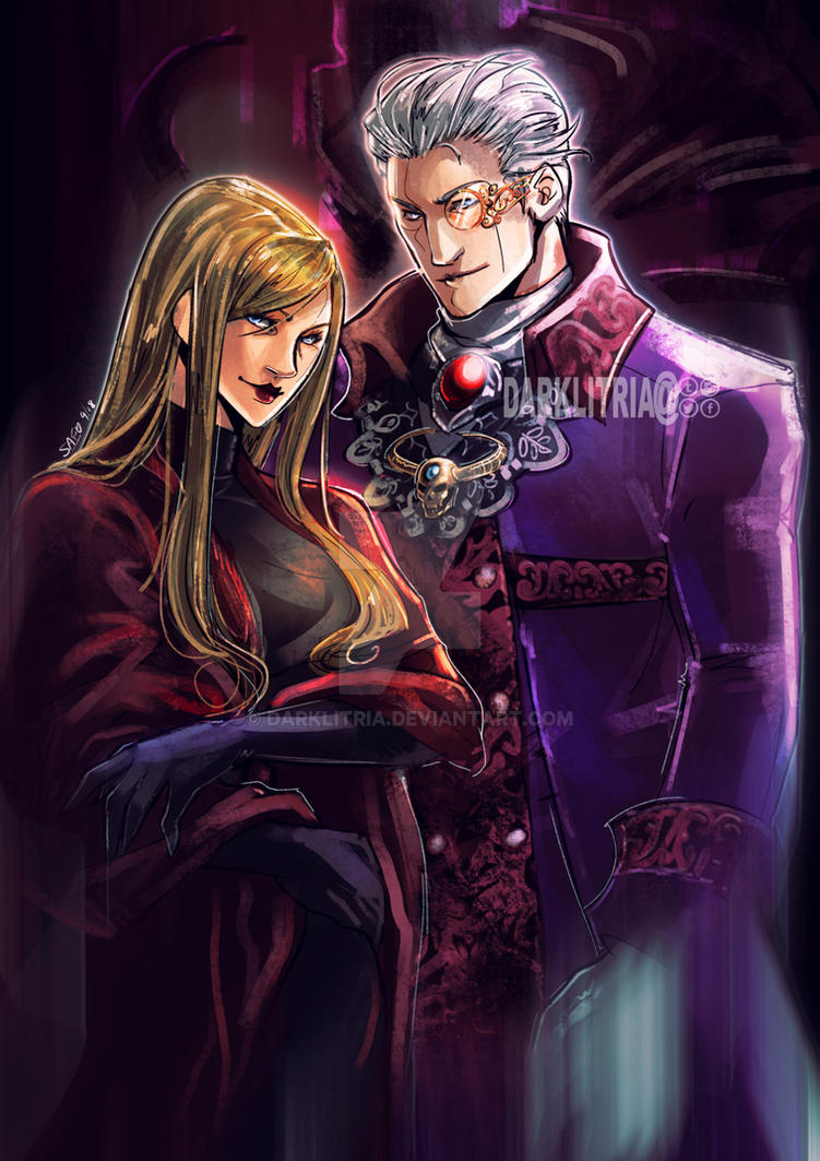 DMC: Sparda and Eva by DarkLitria