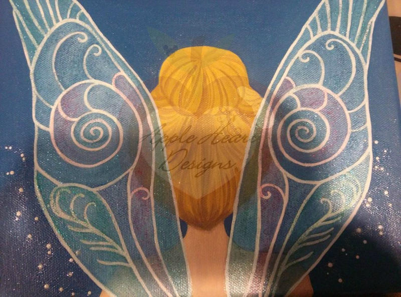 Tinkerbell Canvas Painting by MyApples on DeviantArt
