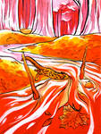 Two of Wands by Cheralla