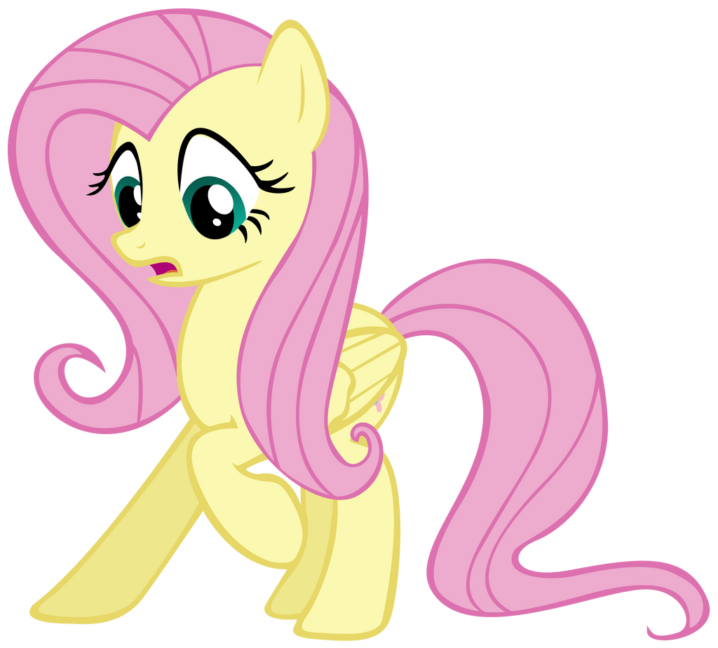 Fluttershy Scared Of Her Own Shadow by chanceH96 on DeviantArt