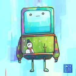 Beemo Christmas Sweater by jackiecous
