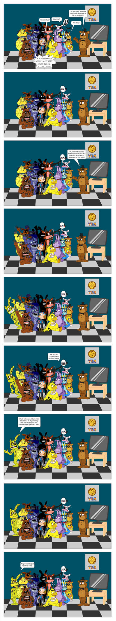 Five Nights at Freddy's: Movie Night! by theoctagon0