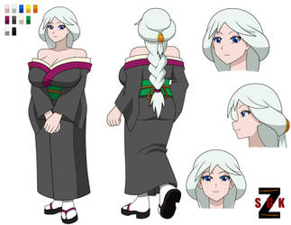 Sayoko Concept sheet (color) by SDKZERO