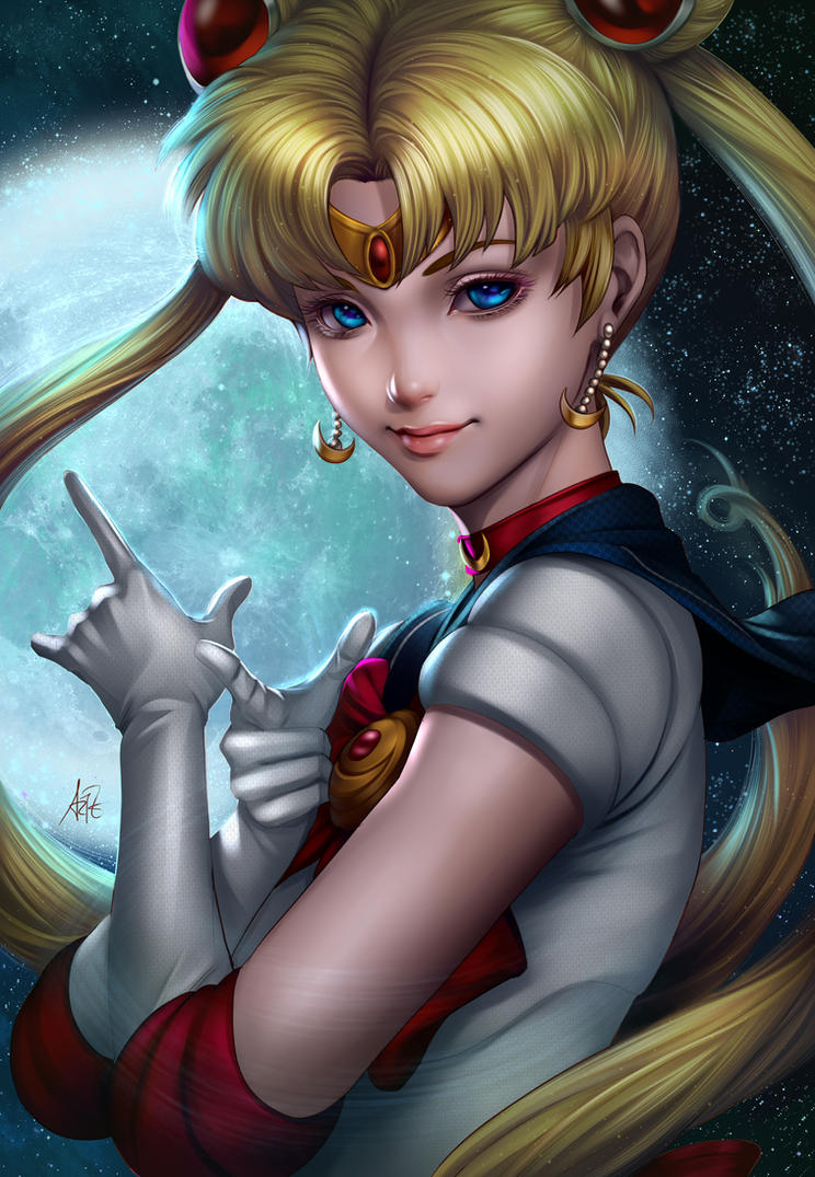Sailor Moon Lineart By Artgerm by tekino