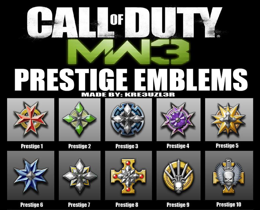 MW3 Prestige Emblems by KR3UZL3R