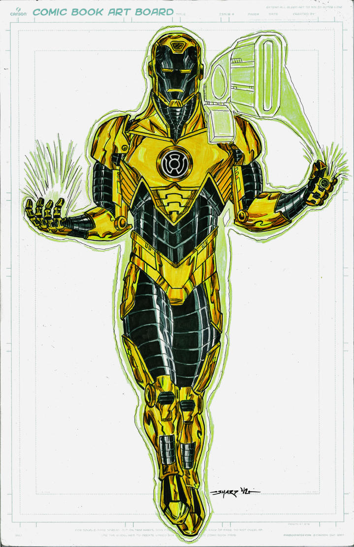 SINESTRO CORPS IRON MAN FINAL by FanBoy67