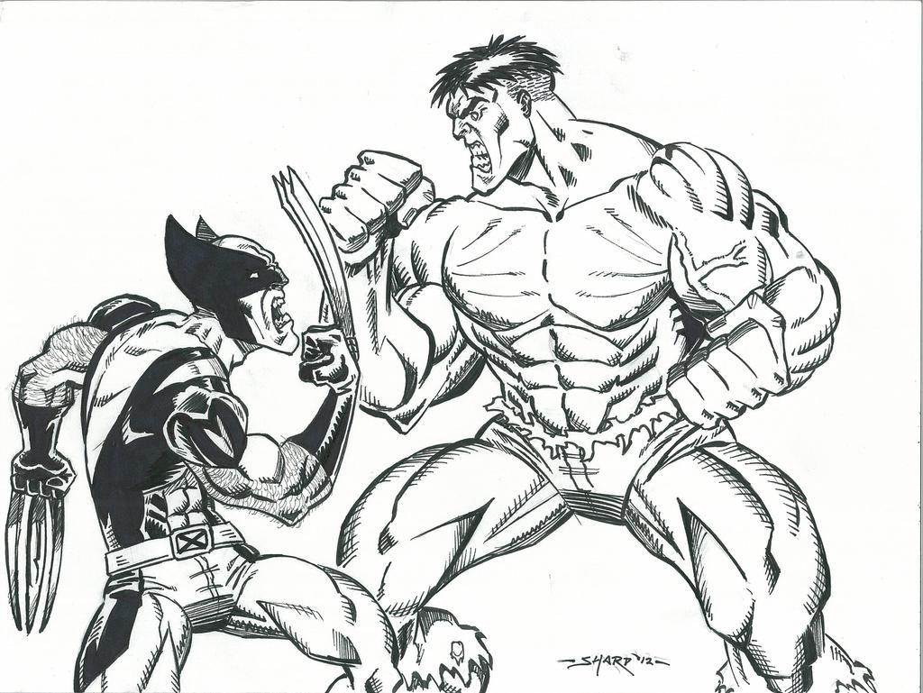 hulk vs superman coloring pages - photo#29