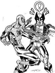 SUPERIOR SPIDER-MAN vs WOLVERINE by FanBoy67