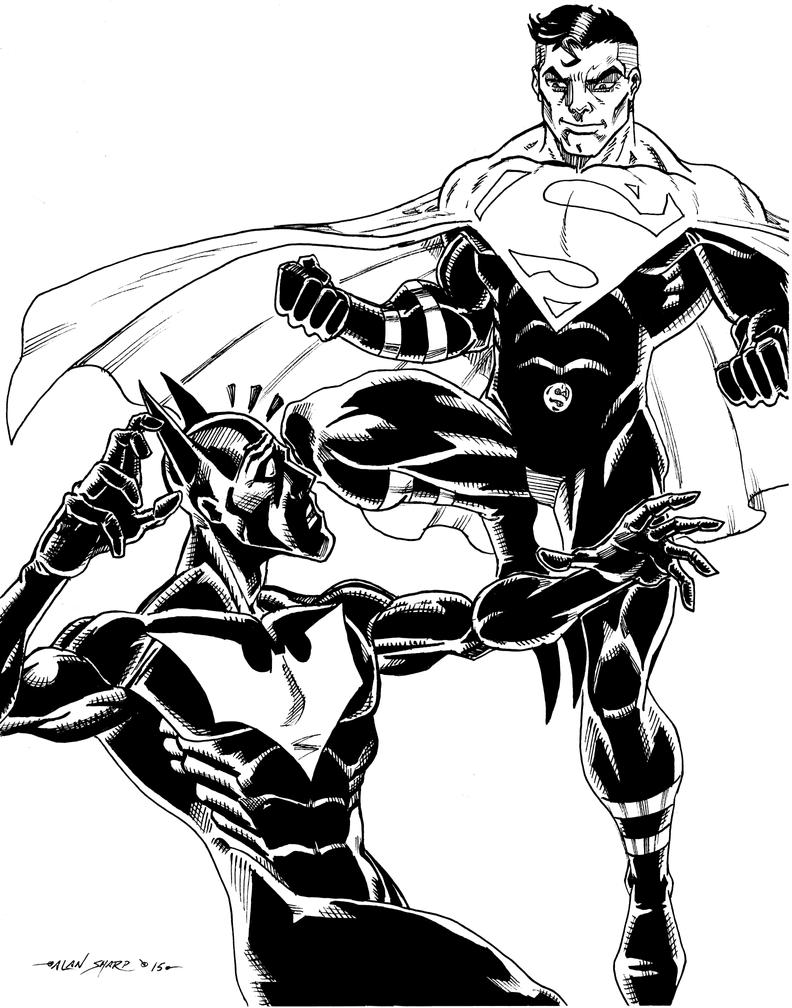 BATMAN BEYOND v JUSTICE LORD SUPERMAN by FanBoy67
