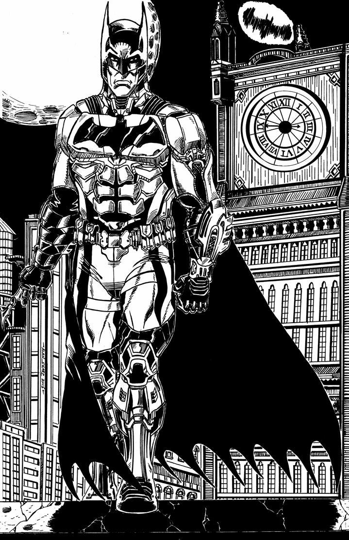 BATMAN: ARKHAM KNIGHT COMMISSION by FanBoy67