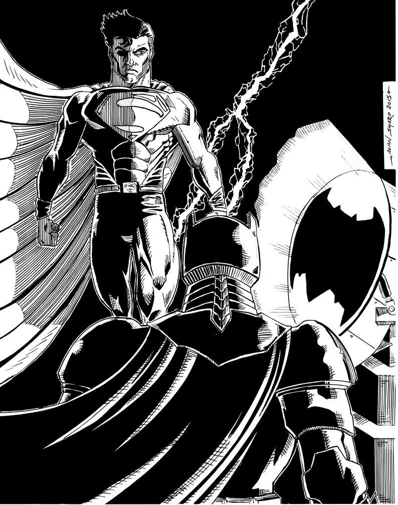 BATMAN v SUPERMAN AUCTION FINAL INKS by FanBoy67