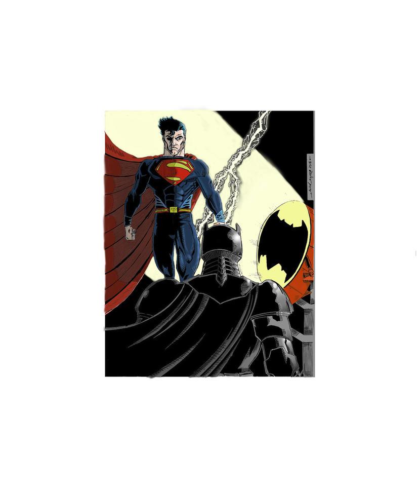 BATMAN v SUPERMAN COLORS by FanBoy67
