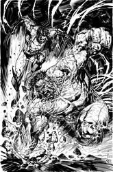 INKING SAMPLE - SYAF WOLVERINE vs HULK by FanBoy67