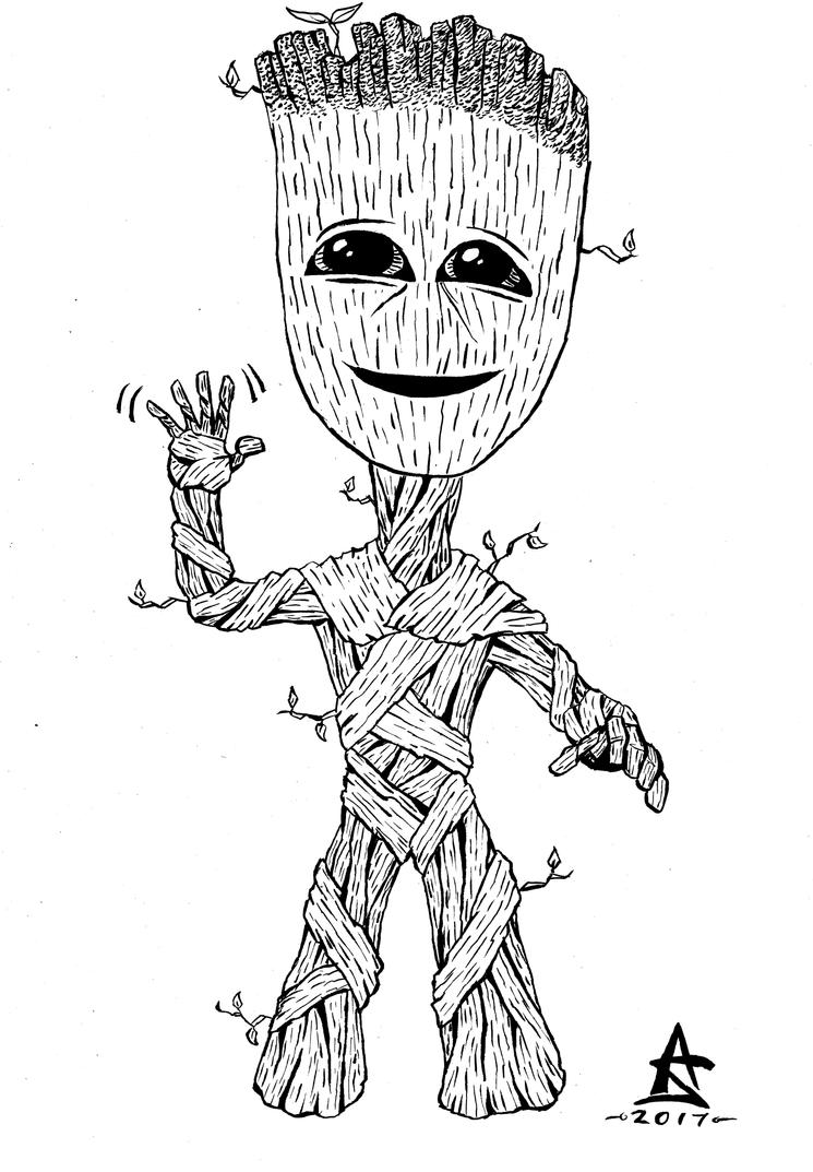 Baby Groot Coloring Page Baby Coloring Pages