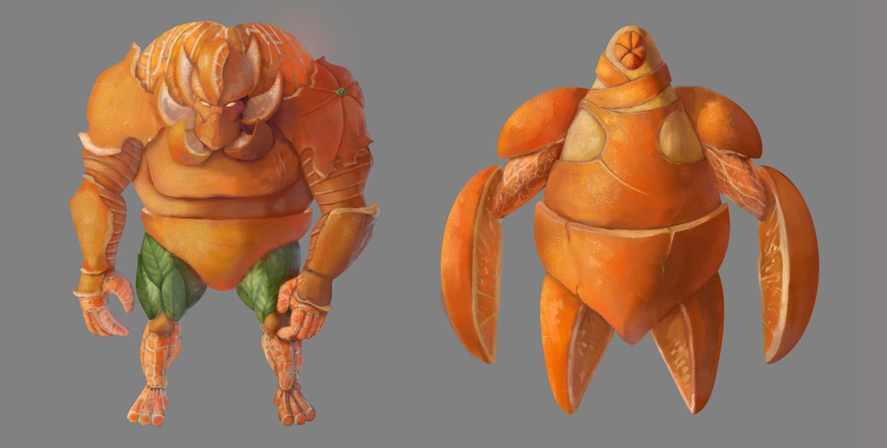orange golems