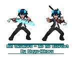 Rin Okumura Sprite by Mayu-Hikaru