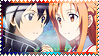 Kirito and Asuna - Sword Art Online - Stamp by Mayu-Hikaru