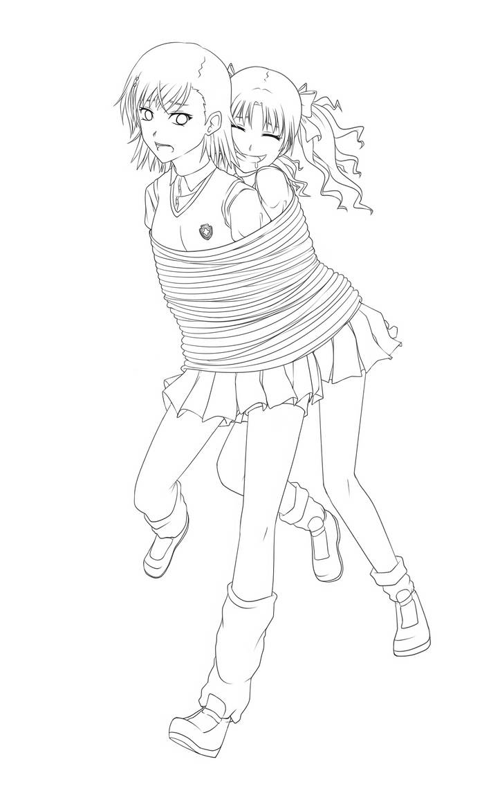 Tied Together (Lineart) by Project-Biri-Biri on DeviantArt