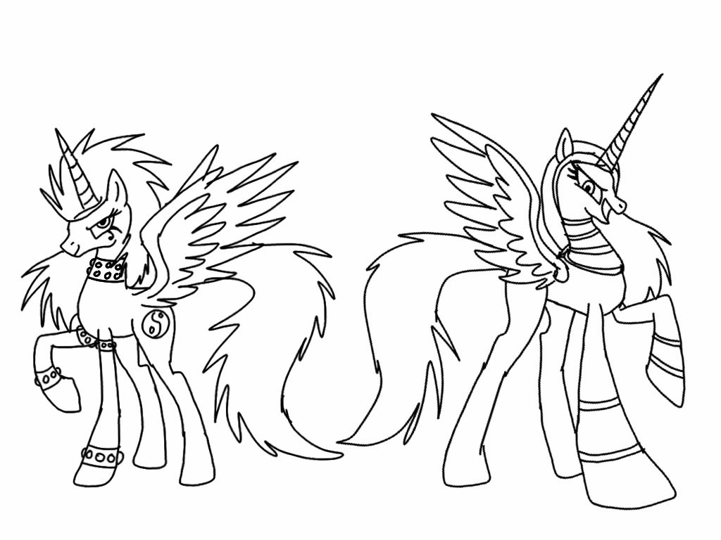 Alicorns that mean Business lineart by ShardianofWhiteFire ...