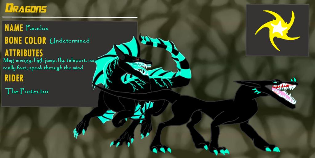 Paradox's Dragon Booster character sheet by BlackDragon-Studios on