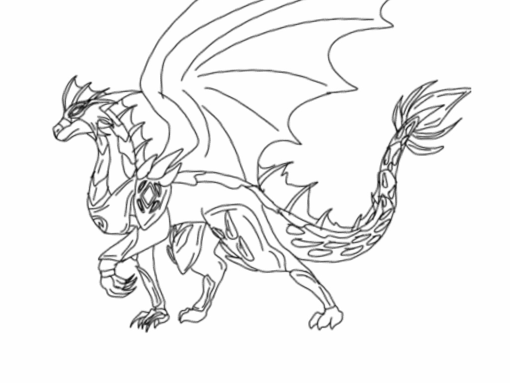 avatar dragon coloring pages - photo#2