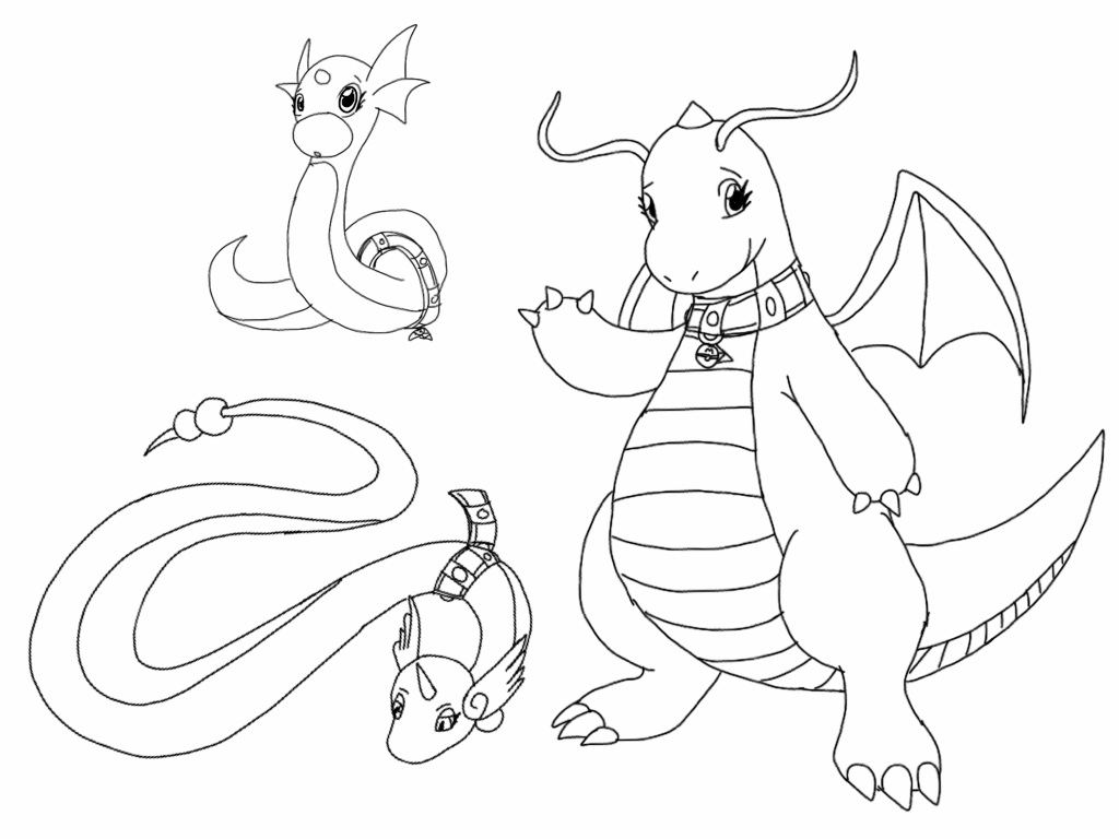 pokemon dragon coloring pages - photo#41