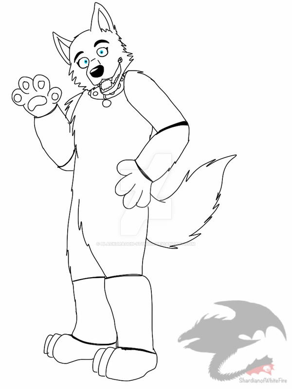 Line Drawing Reddit : Fnaf holly the husky wip lineart by blackdragon studios on