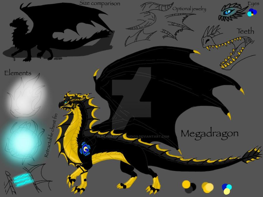 Megadragon Reference Sheet 2015 By Blackdragon Studios