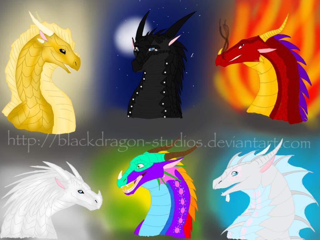 Wings of Fire AU cast by BlackDragon-Studios on DeviantArt