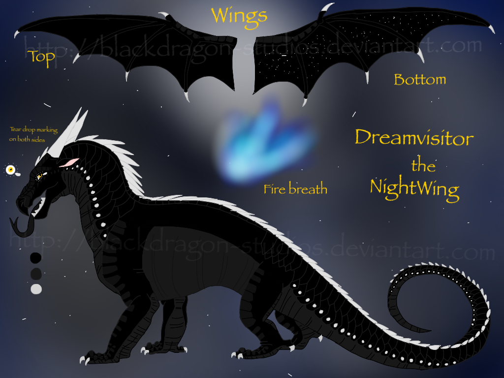 wings of fire Deathwings are an average to small dragon breed that are known to be island dwellers they have a similar height of a rainwing, with shorter tails and smaller wings.