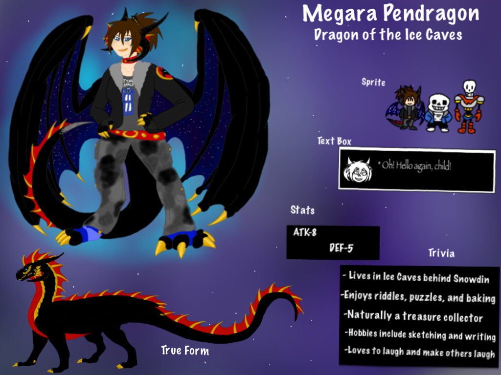 Undertale OC: Megara Pendragon of the Ice Caves by BlackDragon-Studios