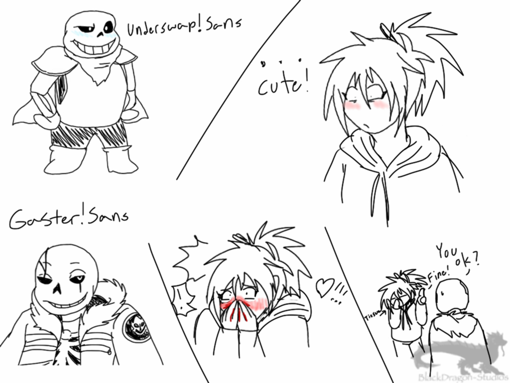 Fanart Undertale Au Reactions By Blackdragon Studios On