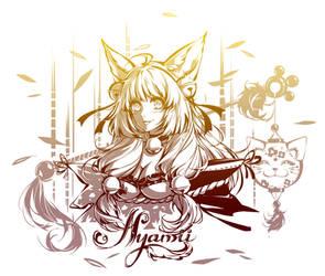 Commission - Maneki-neko girl by Paddy-F