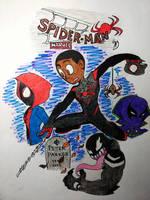 Ultimate Spider-man/Miles Morales by streak663