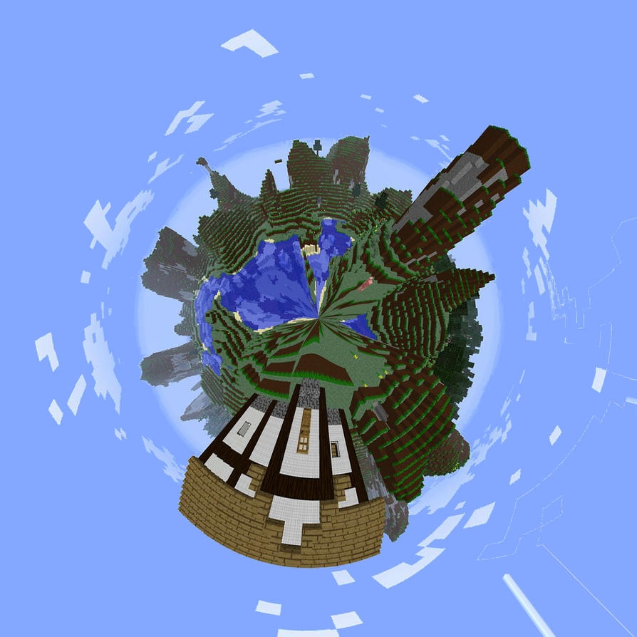 Minecraft Planet by RyoleD on DeviantArt