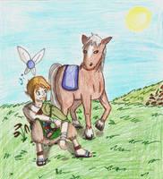 Link, Navi, and Epona by Spo-Mar-Ani07