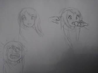 Sakura Minamoto sketches by Korze91