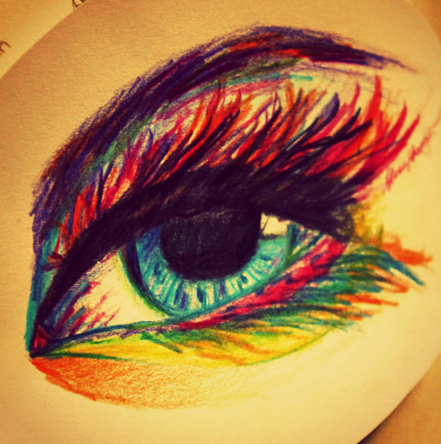 new years eve colored eye by LucaHennig