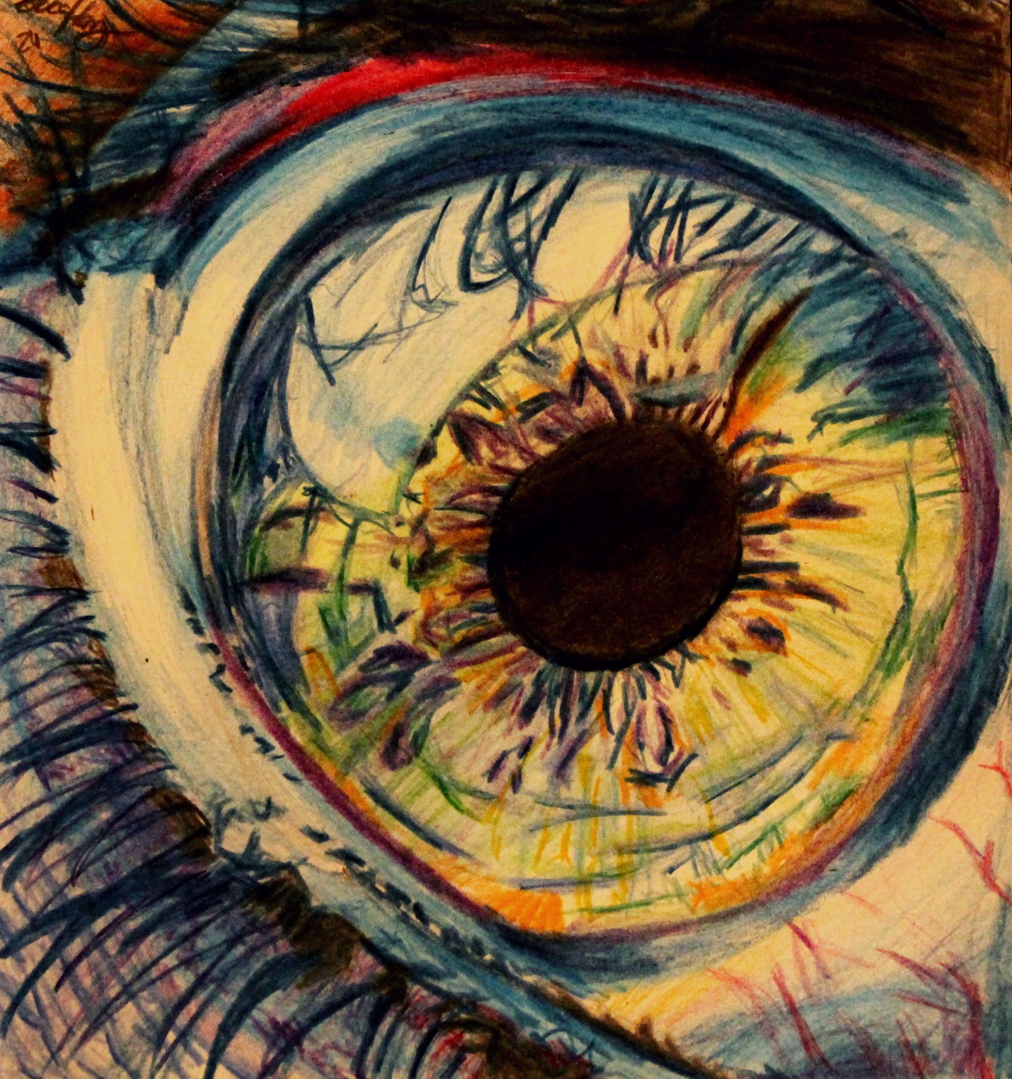 Color Spectrum - Eye Drawing by LucaHennig