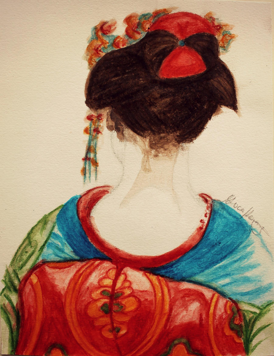 A maiko in her kimono by LucaHennig