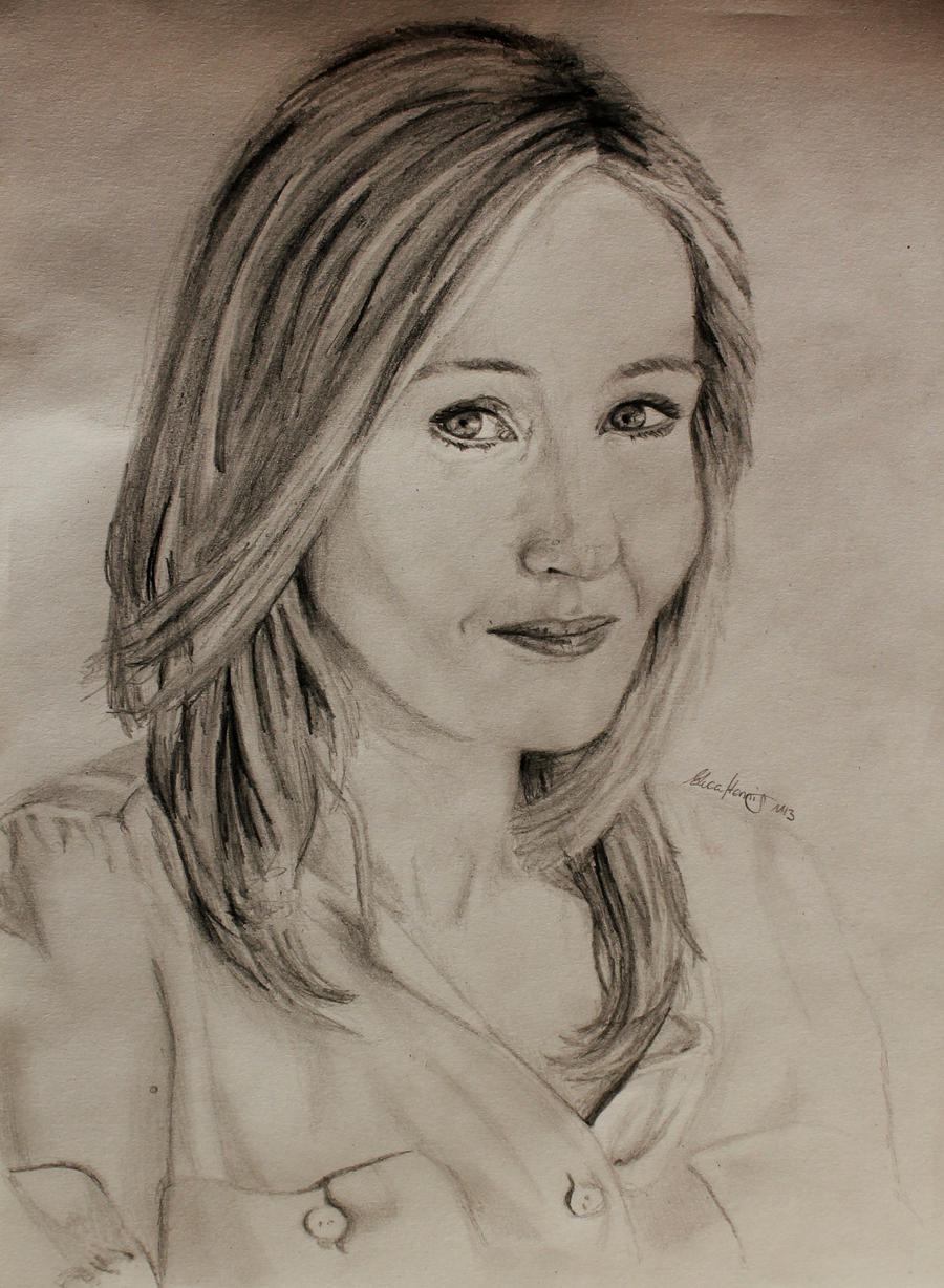 J.K Rowling - Pencil Portrait by LucaHennig