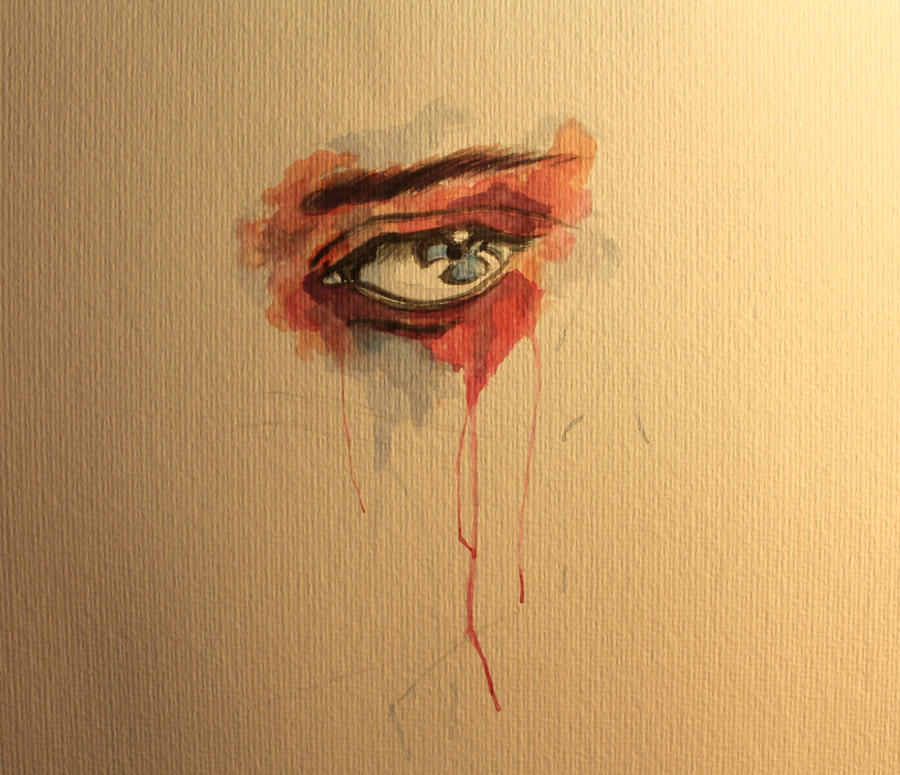eye painting no.1 - watercolor - part 1 by LucaHennig