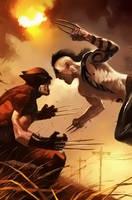 Wolverine vs Daken by Aspersio