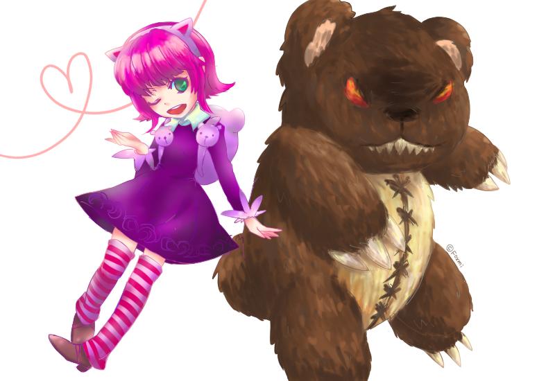 Annie and bear by Foxmi
