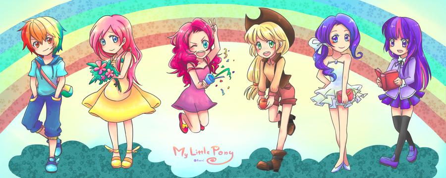 [ My Little Pony ] ponies humanization by Foxmi