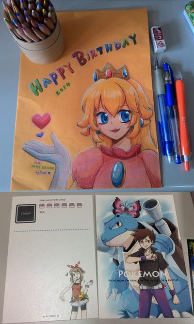 A Birthday Postcard for a friend !! by Foxmi