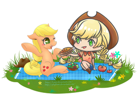 [ MLP ] Collab Proj5: Apple Picnic (Applejack) by Foxmi