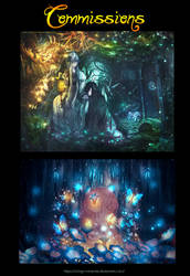 [Commissions] [Nov.11.29] Forests by Ichigo-Miranda