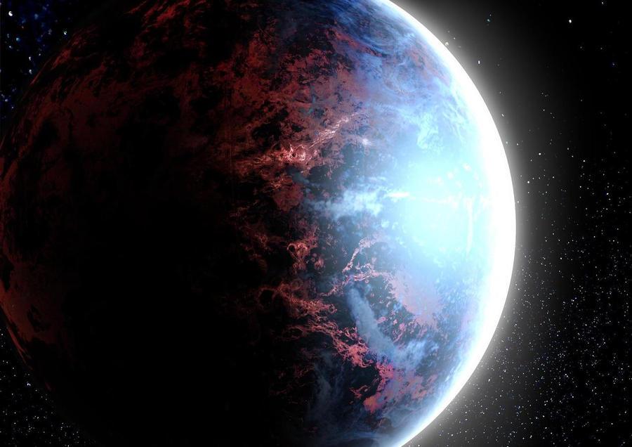Kepler 22b by Pixelowska