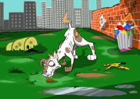 Perro Come Caca Final by HERNAN34